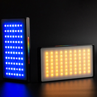 YY150 RGB LED Video Light Dimmable On Camera with Hot Shoe to Microphone Photography Lighting for DSLR Camera Light