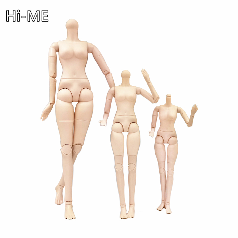 New Arrival 26 Joint BJD Doll Parts 22'' 18'' 14'' Round Neck Nude Doll Body For 36/42/60cm Toys For Children Girl Toys