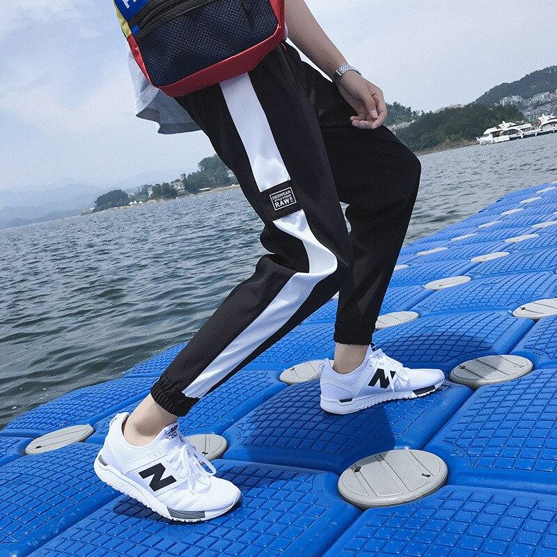 Pants Men's Korean-style Trend Capri Pants Summer Loose-Fit Thin Harem Pants Harajuku BF Style 9 Points Casual Sports Pants