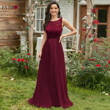 Elegant Prom Dresses Long 2021 Ever Pretty EZ07695 Women's Sexy A-line Sleeveless O-neck Chiffon Lace Cheap Evening Party Gowns