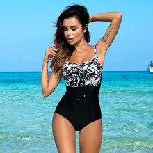 One-Piece Swimsuit Classic Push-Up Momokini Plus-Size Women Vintage Sexy Summer Beach
