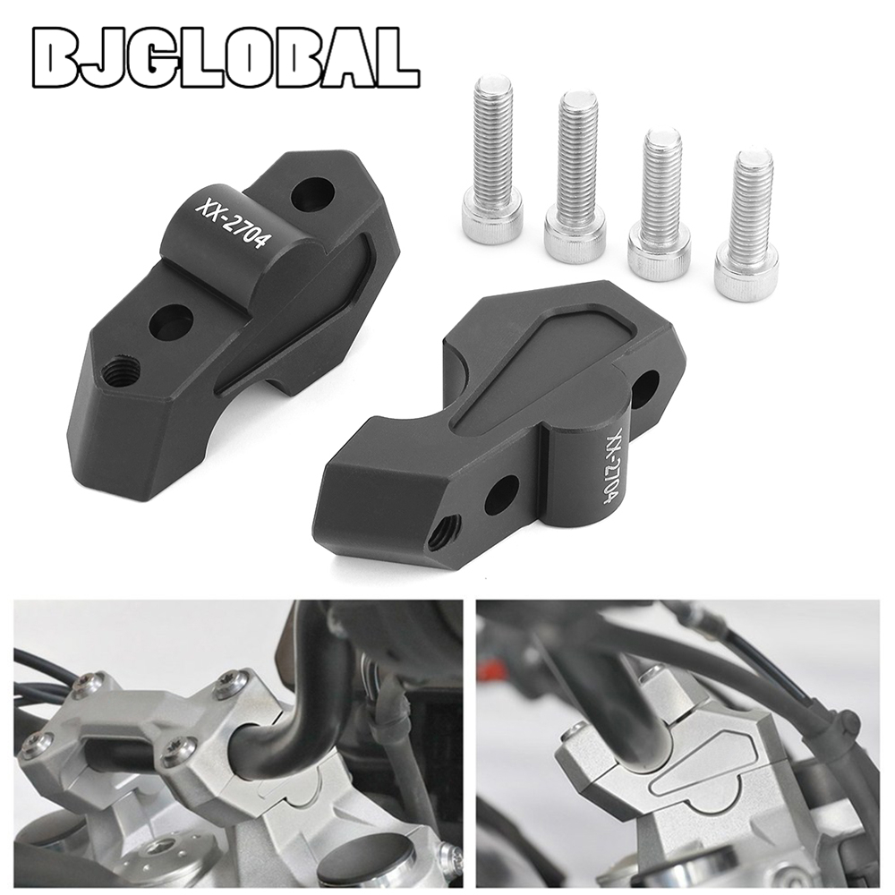 Motorcycle Handlebar Risers Clamp Handle Bar Risers Raised Adapter Aluminum Alloy For B.M.W F750GS F850GS 2018-2019