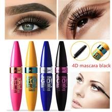 4D Mascara Waterproof Mascara Mask Roll Makeup Volume4D Silk Fiber Mascara Long Curling ,Make up, Black Rimel cosmetic