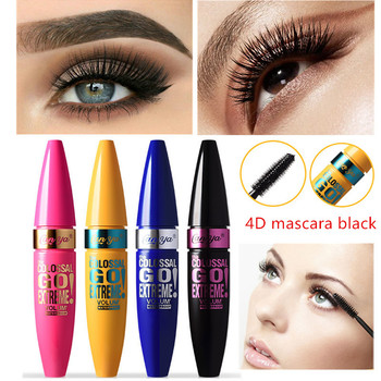 цены 4D Mascara Waterproof Mascara Mask Roll Makeup Volume4D Silk Fiber Mascara Long Curling ,Make up, Black Rimel cosmetic
