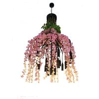 Novelty Decoration plant pendant light 33W warm light flower pendant chandelier in bar restaurant club girls room wedding lights