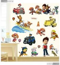 Chaude 3D Ryder patte patrouille anime stickers muraux chien 3d vinyle autocollants pour enfants chambres décoration bébé préféré affiches livraison gratuite