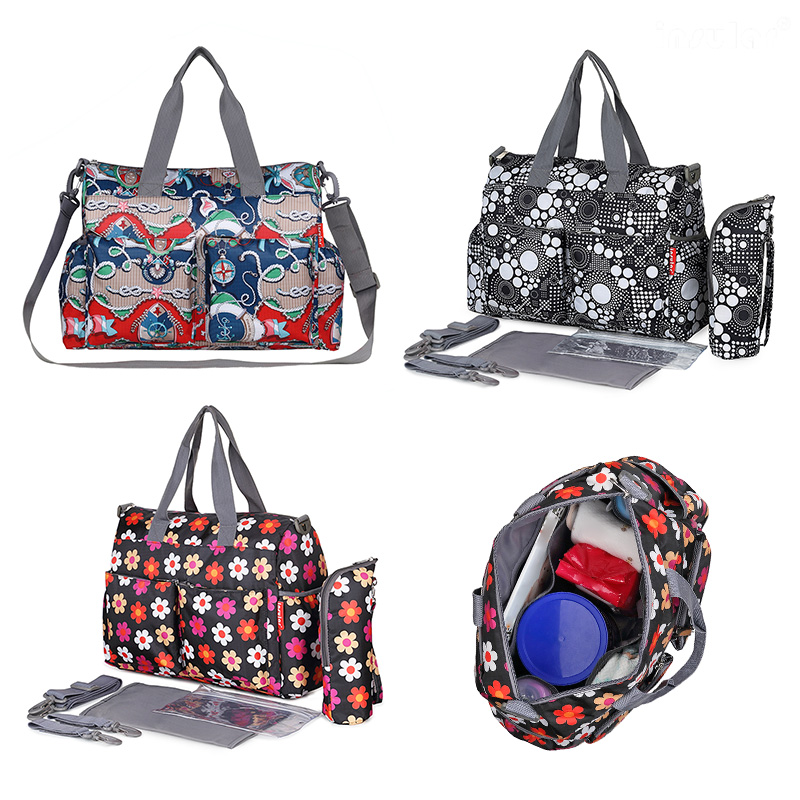 Waterproof Mummy Diaper Handbags Large Capacity Baby Nursing Maternity Bags Baby Nappy Bag Mommy Nurssing Stroller Accessories