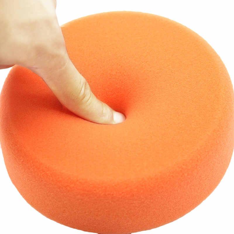 1 sztuk 150mm samochodowe talerze polerskie gąbka polerowanie polerowanie woskowanie Pad koła do bufora do polerowania samochodu pomarańczowy zestaw nakładek gorąca myjnia samochodowa