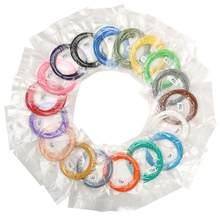 Qcreate 3d caneta impressão materiais pcl filamento 1.75mm 30 cores 5 metros pelo rolo