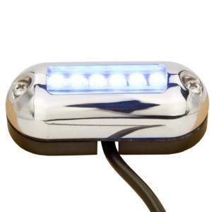 Image 2 - 12 12vマリンオーバルled水中ライトブルーアクセントライト表面実装6 led IP68
