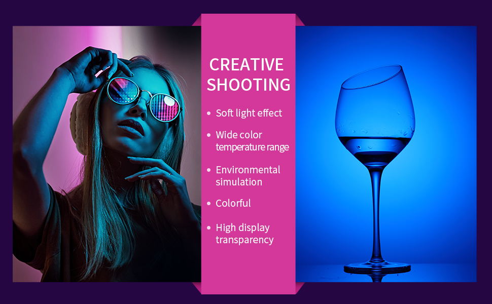 H6b6b4c7880674c97bdbd63c746c5d733W soonpho RGB LED Camera Light Full Color Output Video Light Kit Dimmable 2500K-8500K Bi-Color Panel Light CRI 95+