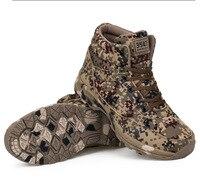 Winter Mens Military Hiking Shoes Fleece Warm Desert Combat Boots Waterproof Climbing Hunting Sneakers Salamon Outdoor