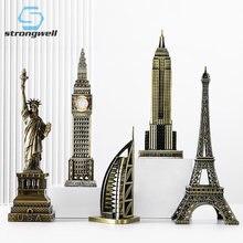 Fort bien moderne repère modèle de construction fer modèle bureau petits ornements en métal livre chambre mobilier de bureau décoration de la maison