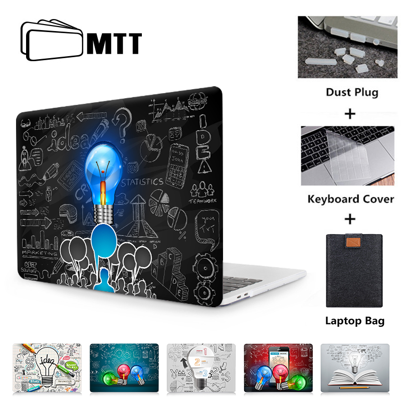 Cover MacBook Air School Creative Art Fashion Pen Writing Plastic Hard Shell Compatible Mac Air 11 Pro 13 15 Mac Cases Protection for MacBook 2016-2019 Version