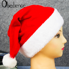 Adult Childrens Golden Velvet Christmas Hat Jewelry Party props decoration