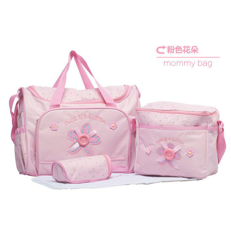 4PCS/Set High Quality Tote Baby Shoulder Diaper Bags Durable Nappy Bag Mummy Mother Baby Bag Brand New