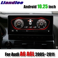 Liandlee Car Multimedia Player NAVI For Audi A6 A6L 2005~2011 MMI 10.25 inch CarPlay Accessories A6 Radio Stereo GPS Navigation
