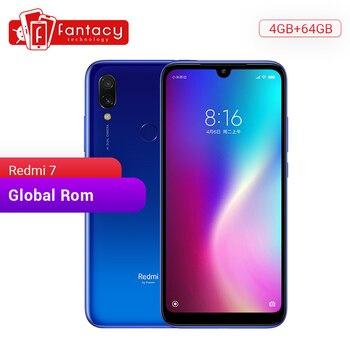 Xiaomi Redmi 7 с глобальной прошивкой, 4 Гб ОЗУ, 64 Гб ПЗУ, Восьмиядерный процессор Snapdragon 632, 12 МП, двойная камера AI, мобильный телефон, 4000 мАч, большая ...