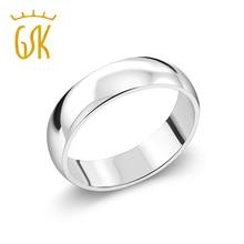 Klejnot S ton król 925 Sterling srebrne wesele Band Ring 5mm szerokości grzywny biżuteria dla mężczyzn