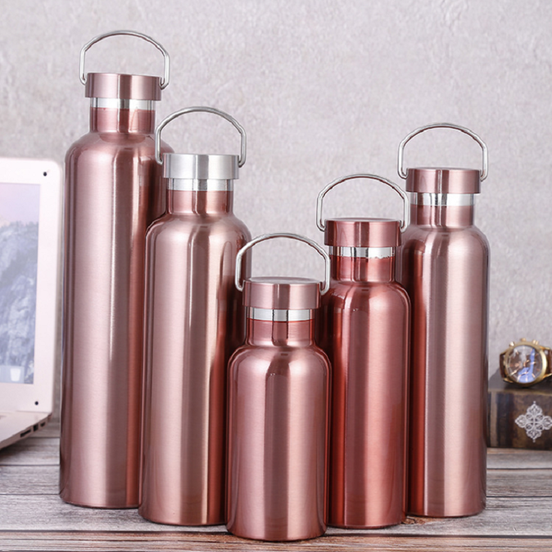 750ml 304 Thermal Insulation stainless steel water bottle sport <font><b>drinking</b></font> bottles gift wide mouth drink bottle mug cup BPA free image