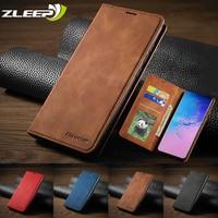 Custodia in pelle A51 A71 A21S A12 A52 A72 A02 per Samsung Galaxy S21 S20 FE Ultra S10 S9 S8 Plus S7edge A31 Flip portafoglio porta carte