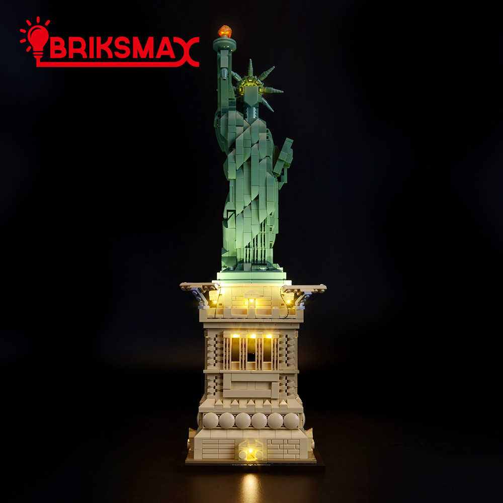 BriksMax Led Light Up Kit For Architecture Statue Of Liberty Building Blocks Compatible With 21042 (NOT Include Model)