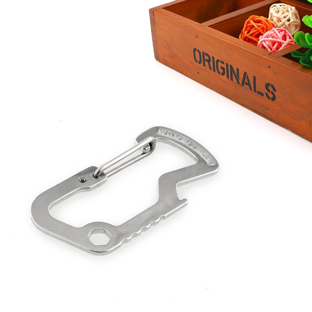 Survival Camping Climbing Gear Carabiner Keychain Multi Tool Key Chain NEW