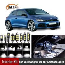 12XCanbus W5W Led Bulb Car Interior Light Kit For Volkswagen VW for Scirocco 3R R  license Plate Map Dome Lamps Car accessorie