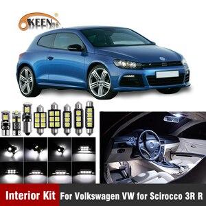 Image 1 - 12XCanbus W5W светодиодный светильник для салона автомобиля Комплект для Volkswagen VW для Scirocco 3R номерной знак Карта Купол лампы аксессуары для автомобиля