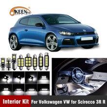 12Xcanbus W5W Led Lamp Auto Interieur Licht Kit Voor Volkswagen Vw Voor Scirocco 3R R Kenteken Kaart Dome lampen Auto Accessorie