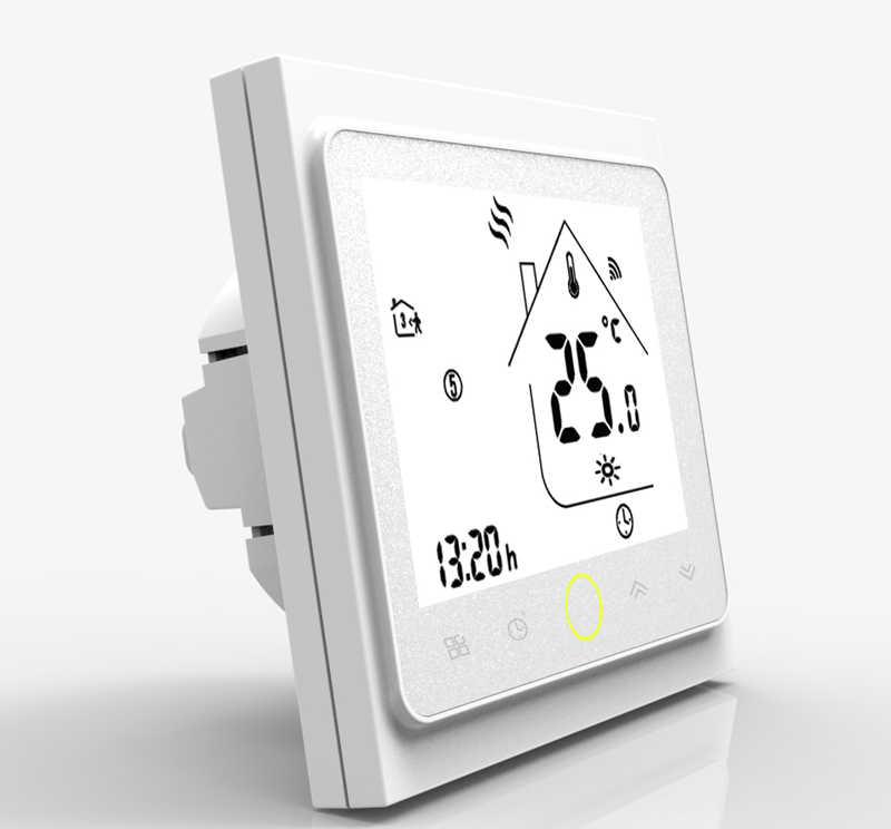 واي فاي أداة تحكم في درجة الحرارة بالترموستات LCD شاشة تعمل باللمس الخلفية للمياه الطابق التدفئة يعمل مع اليكسا جوجل الرئيسية 3A