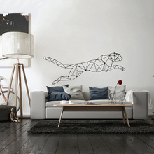 Leopard Wall Stickers Style Large Geometry Animals Wall Sticker For House Decoration Living Room Bedroom Decor Art Decals Mural
