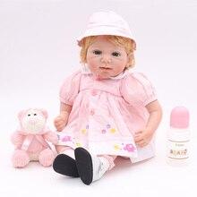 """Muñeca renacida l. o l juguetes 20 """"50cm de silicona renacer muñecas del bebé vivo niña bebes reborn muñeca de los niños regalo bebe metoo"""