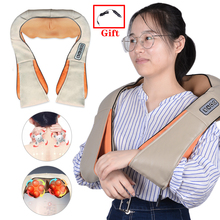 Infrared Heated Shoulder Body Neck Kneading Massager Electrical U Shape Multifunctional Shawl Car/Home
