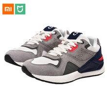 2019 New Xiaomi Mijia Retro Style  Shoes Men Pig Suede Mesh Stitching Sneakers EVA Anti-torsion Balance Technology