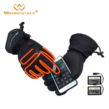 Temperature-controlled Touch Five-fingered Thermoelectric Gloves Waterproof Fabric  Breathable Windproof and Waterproof