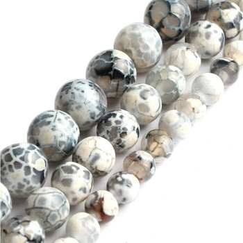 6 8 10mm naturalna biel agat ognisty koraliki okrągłe luźne kamień koraliki do tworzenia biżuterii bransoletka typu Charm DIY naszyjnik 15 cal hurtownie tanie i dobre opinie GMB724 zawieszki F02033GEM Zewnętrzna ocena Okrągły kształt 20g-55g Drobne Brak White Fire Agate 6 8 10mm Making Bracelet Necklace beads for jewelry making