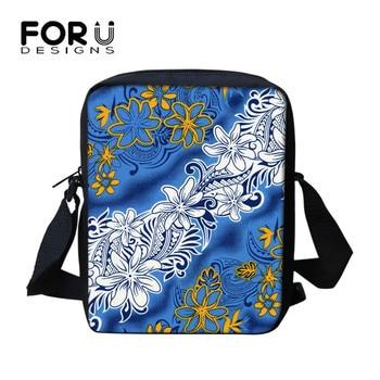 FORUDESIGNS Fashion Tropical Flower Pattern Ladie Small Cross-body Bag Women Mini Handbag For Female Bolsas Carteras Mujer Marca