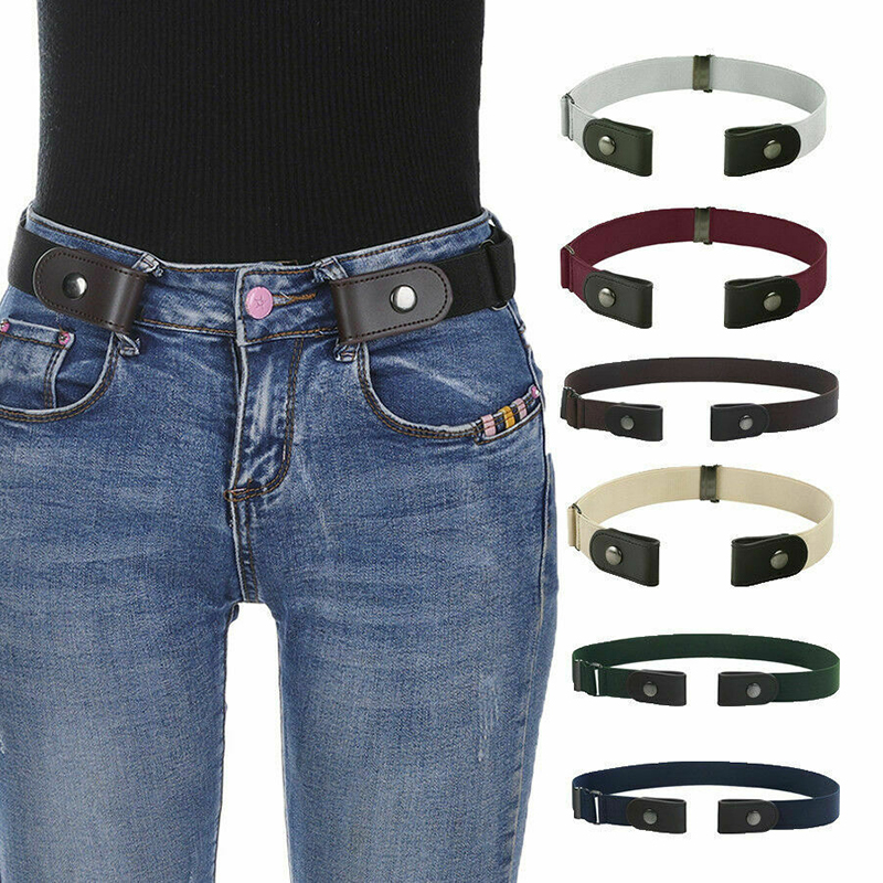 No Buckle Free Easy   Belts   Women Men Stretch Elastic Waist   Belt   Band Invisible   Belt   Accessories Fashion New 2019