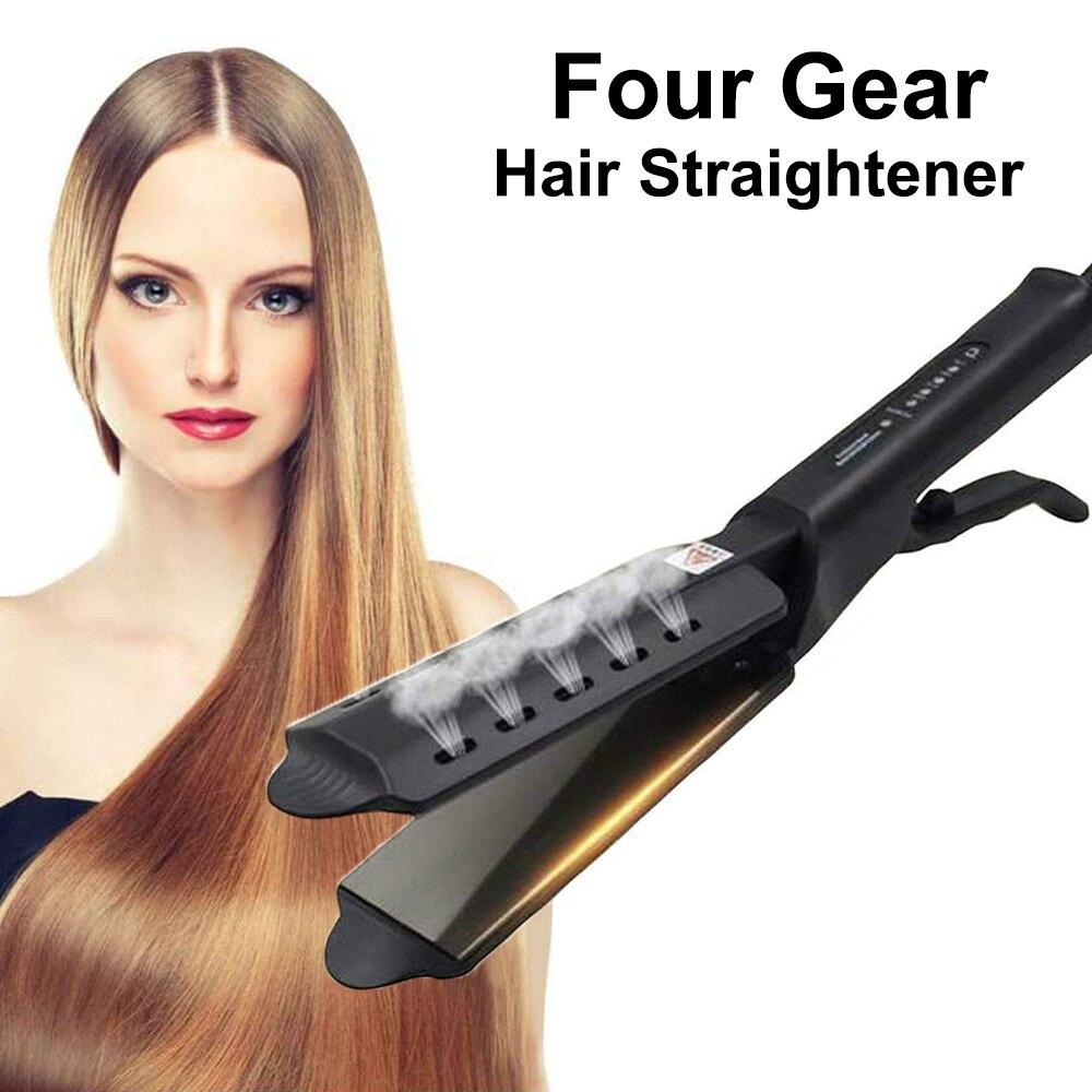 Steam Iron Hair Straightener Ceramic Ionic Four-gear Flat Iron Straightening Professional Hair Straighteners Steam Straightener 1