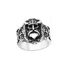 Голова воина викингов кольцо модные аксессуары из нержавеющей