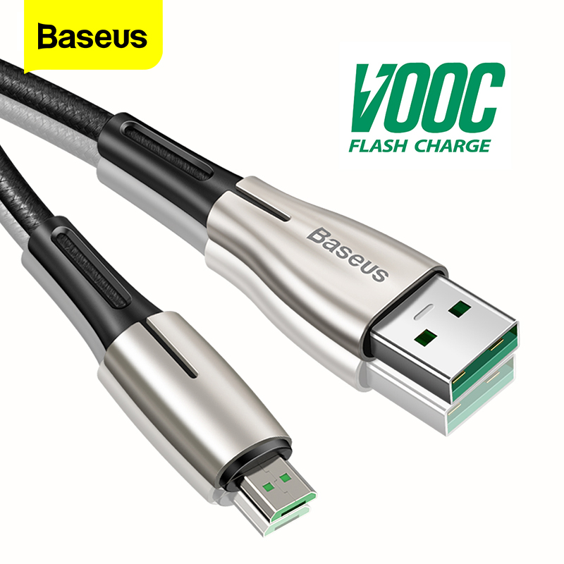 Baseus Micro USB Cable 4A Flash Charge For OPPO VOOC Microusb Cable Charger For Samsung Xiaomi Android Mobile Phone Wire Cord