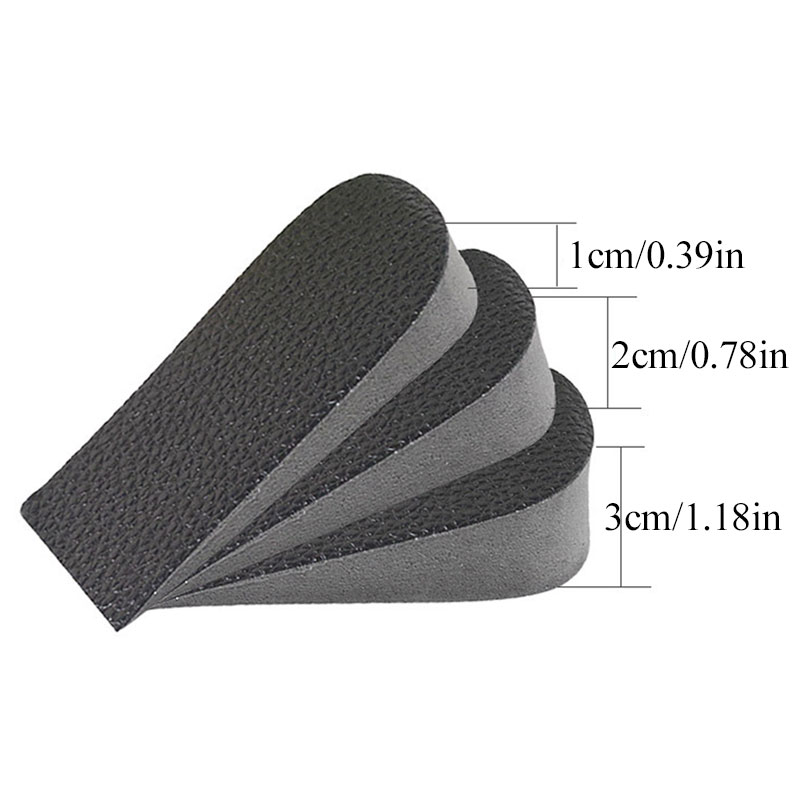 Hot Sale EVA Invisible Height Increased Insoles Unisex  Orthopedic Insoles Soft Anti-slip Foot Insoles 1/2/3cm High Increase New