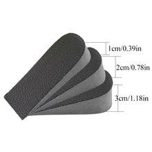 見えない高さの増加インソールヒールパッド整形外科インソールソフトアンチスリップ足インソール 1/2/3 センチメートルリフトインソールドレス靴下