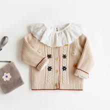 Осенний вязаный свитер с цветочной вышивкой 2020 г Зимняя одежда