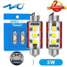 NAO – éclairage intérieur de voiture C5W CANBUS 31mm, guirlande lumineuse de plaque d'immatriculation automobile C10W 28 36 39 41 44mm 12V 24V 3030 3 SMD