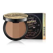 3 cores bronzeadores rosto maquiagem highlighter corretivo bronze sombra pó à prova dwaterproof água pó solto maquiagem em pó maquillaje tslm1