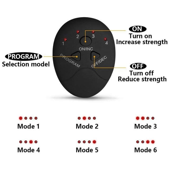 EMS Wireless Abdominal Muscle Stimulator Smart Trainer Muscle Toning Belts Electric Weight Loss Massager Body Slimming Unisex 1