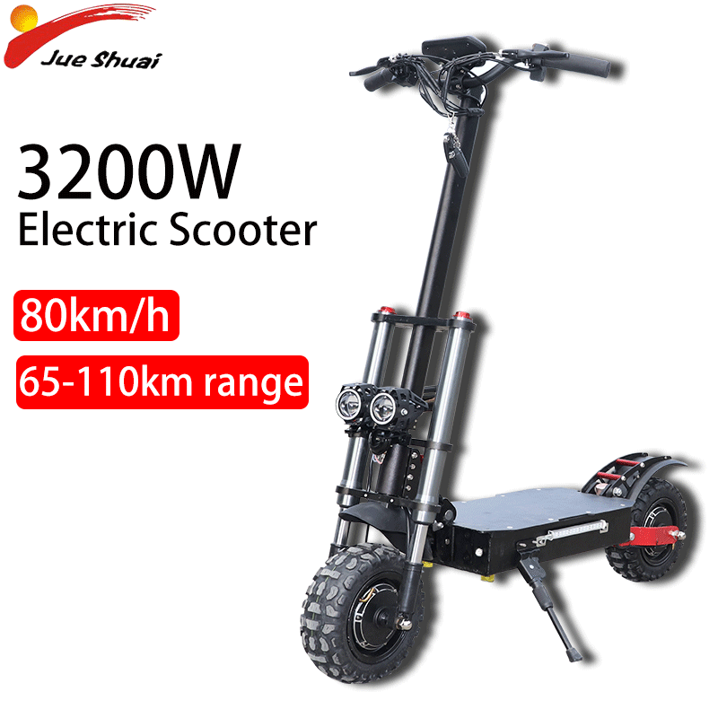 70KM/H Double Motor Electric Scooter with <font><b>Samsung</b></font> Battery <font><b>60V</b></font> 2600W11inch off Road Tire Folding E Scooter Moto Electrica image
