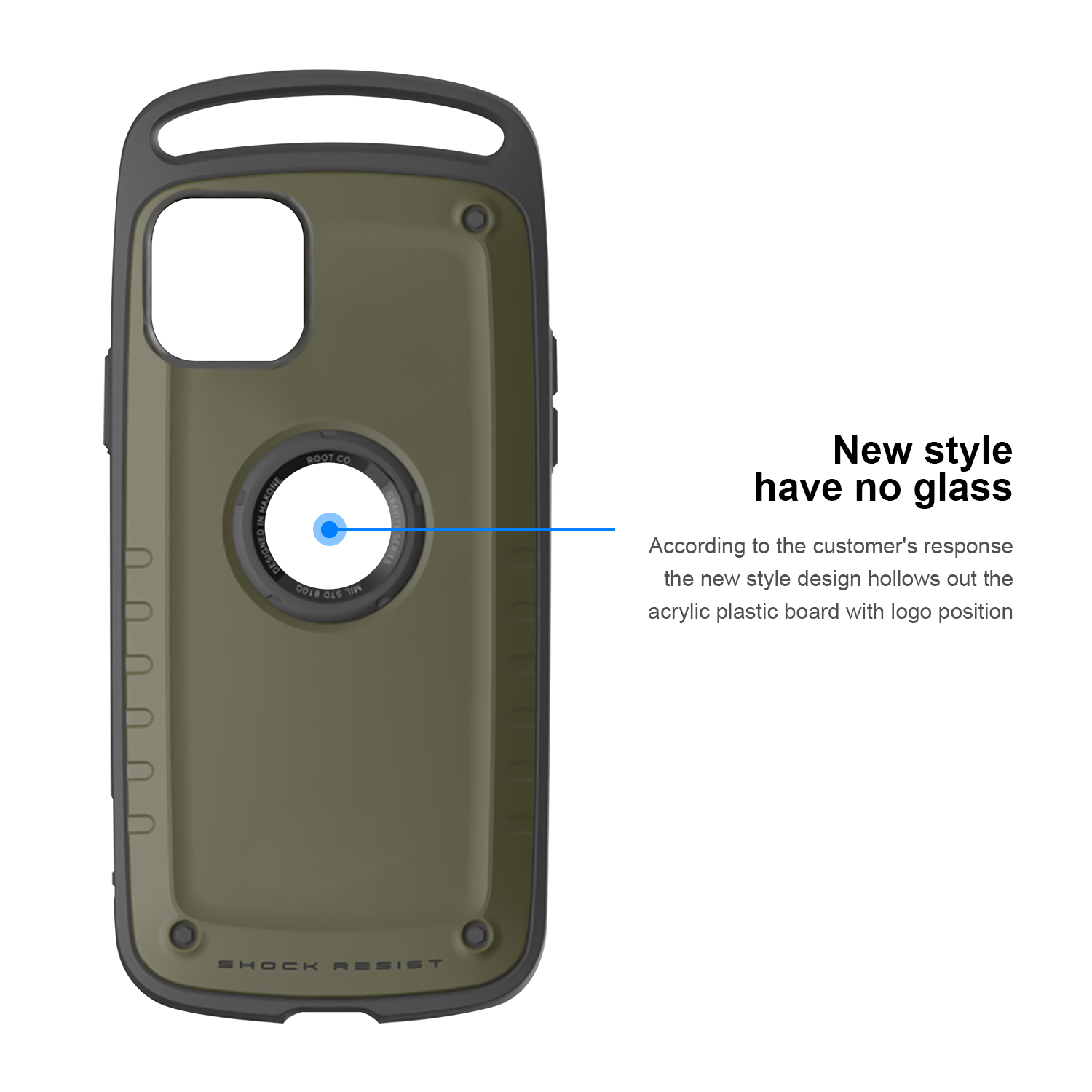 Luxury Hybrid Shockproof Hard Silicone Heavy Duty Armor Case For iPhone 11 Series